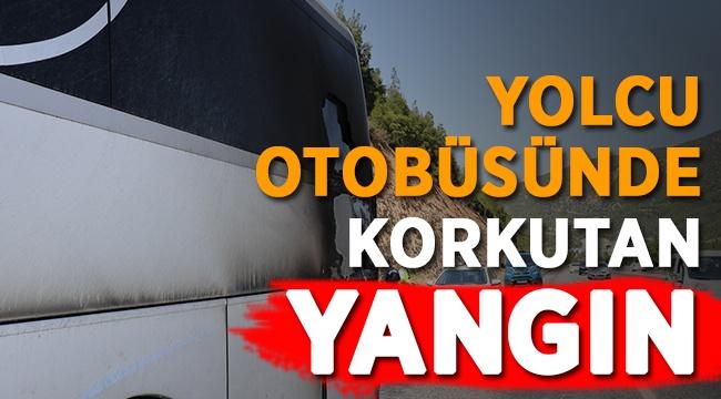 Yolcu Otobüsünün Seyir Halinde Motoru Yandı