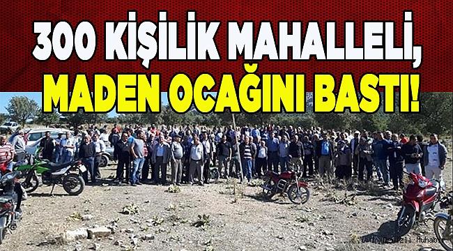 300 Kişilik mahalleli Maden Ocağını Bastı!