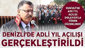 DENİZLİ'DE ADLİ YIL TÖRENLE BAŞLADI