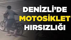 Denizli'de motosiklet hırsızlığı