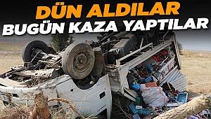 Dün İzmir'den Aldılar Bugün Kaza Yaptılar Ve...