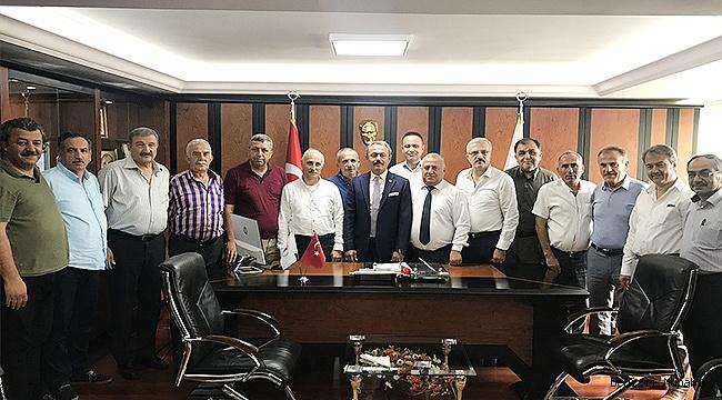Milletvekili Şahin Tin, esnaf odaları başkanları ile buluştu