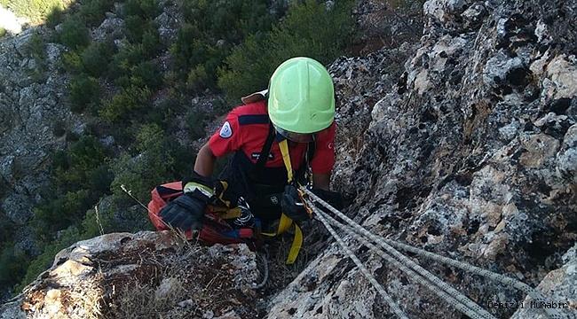 2 Gün Kayalıklarda Mahsur Kaldı! İtfaiye 3 Saate Kurtardı