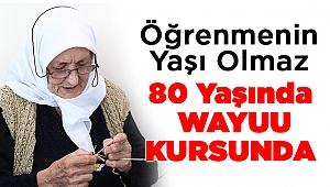 80 Yaşında Öğrenmek için Kursta
