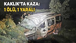 Denizli'de hafif ticari araç şarampole devrildi: 1 ölü, 1 yaralı