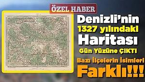 Denizli'nin 1327 Yılındaki Haritası