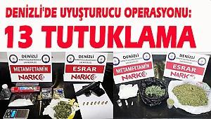 Denizli'de uyuşturucu operasyonu: 13 Tutuklama