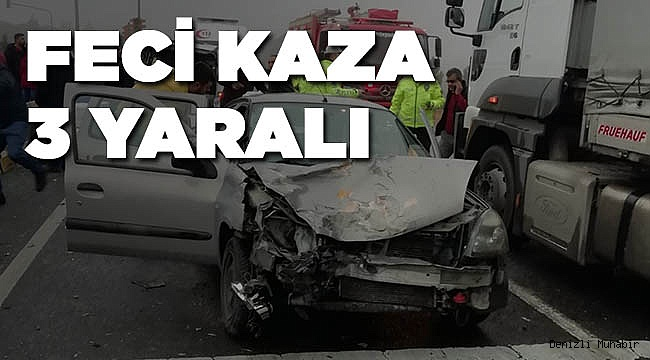 Denizli'de zincirleme trafik kazası: 3 yaralı