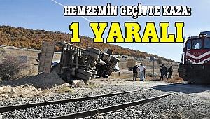 Hemzemin geçitte kaza: 1 yaralı
