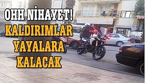 Kaldırımda giden motosiklet ve elektrikli bisikletlere ceza