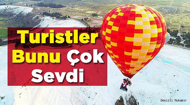 Yüzbinlerce Turist Pamukkale'yi Havadan İzledi!
