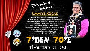 Başkan Özbaş'tan 7'den 70'e tiyatro kursuna Ümmiye Koçak örneği ile davet