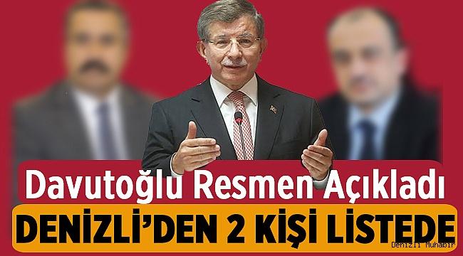 Davutoğlu'nun partisinin Detayları Belli Oldu! Denizli'den 2 İsim