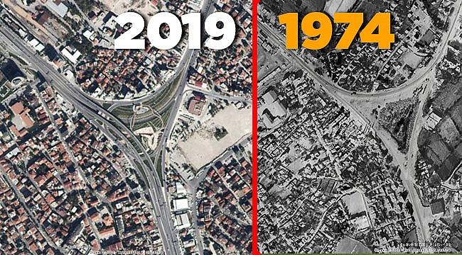 Denizli'nin son 45 yıllık değişimi bu haritada