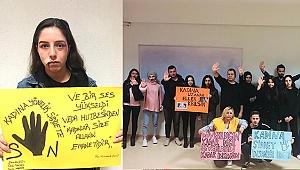 """PAÜ Bekilli MYO Öğrencileri """"Kadına Yönelik Şiddete Hayır"""" Dedi"""