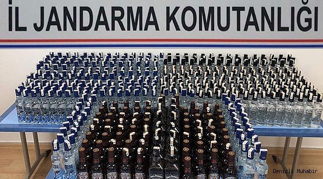 Yüzlerce Kaçak İçki Yakalandı