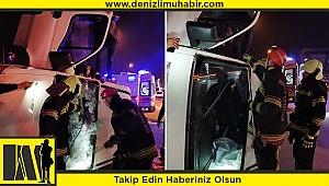 Belediye otobüsüyle minibüs çarpıştı: 3 yaralı