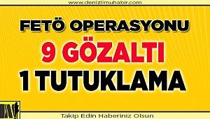 Denizli'de FETÖ operasyonunda yakalanan 9 şüpheliden 1'i tutuklandı