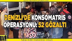 Denizli'de konsomatris operasyonu: 52 gözaltı