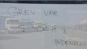 Denizli'de nakliyeciler kontak kapatma eylemi yaptı