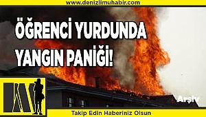Denizli'de üniversite yurdunda çıkan baca yangını korkuttu