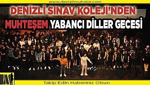 """Denizli Sınav Koleji """"YABANCI DİLLER ETKİNLİĞİ"""" ile geceye damga vurdu."""
