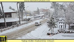 Bozkurt'ta kar 10 cm. oldu