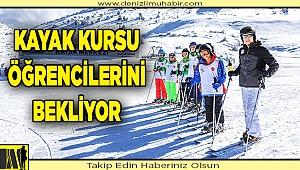 Büyükşehir'in kayak kursuna yoğun ilgi