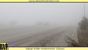 Cankurtaran'da sis ulaşımı olumsuz etkiliyor
