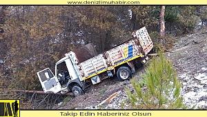 Denizli'de kamyonet kazasında 4 kişi yaralandı