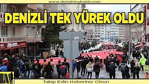 Denizli, Mehmetçik için yürüdü