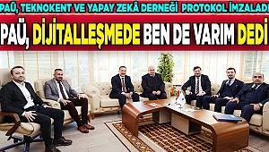 PAÜ, Teknokent ve Yapay Zekâ Derneği protokol imzaladı