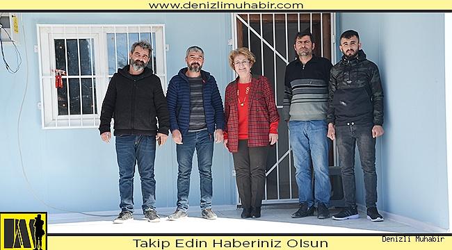 Sazköy'lü depremzedenin yeni evi tamamlandı