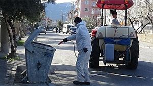 Buldan'da koronavirüs tedbirleri devam ediyor.