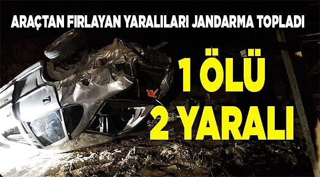 Denizli'de otomobil şarampole devrildi: 1 ölü, 2 yaralı