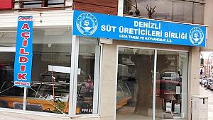 Denizli Süt Üreticileri Birliği satış mağazası yeni yerinde