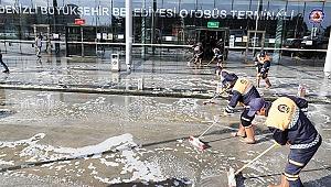 Caddeler baştan aşağı yıkanıp dezenfekte ediliyor