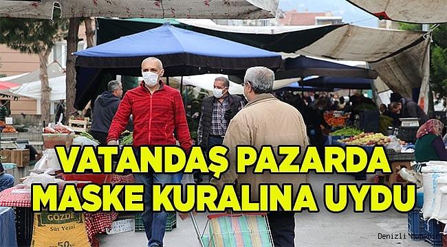 Vatandaşlar, pazara maskesiz çıkmadı!