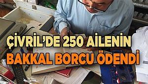 Çivril'de 250 ailenin bakkal borcu ödendi