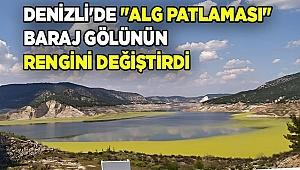 """Denizli'de """"alg patlaması"""" baraj gölünün rengini değiştirdi"""