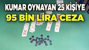 Denizli'de kumar operasyonunda yakalanan 25 kişiye para cezası