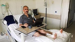 Sarayköy'de termal suya düşen profesör yaralandı