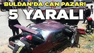 Buldan'da kaza; 5 yaralı