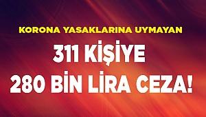 Denizli'de Kovid-19 tedbirlerine uymayan 311 kişiye ceza