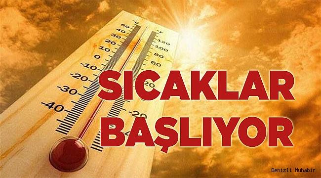 Denizli'de Meteoroloji'den sıcaklık uyarısı