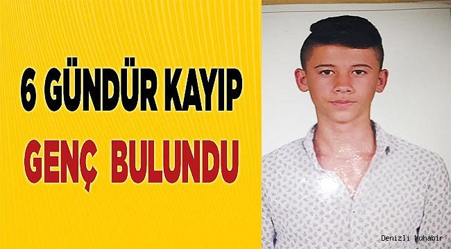 6 gündür kayıp genç bulundu