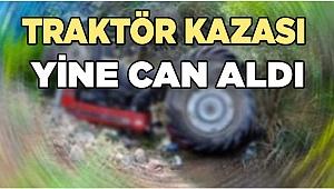 Denizli'de Traktör kazası can aldı