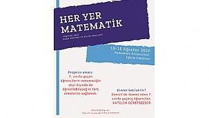 """PAÜ'de """"Her Yer Matematik"""" Projesi İçin Başvurular Başladı"""