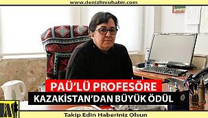 PAÜ'lü Profesöre Kazakistan'dan Büyük Ödül
