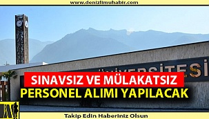 Pamukkale Üniversitesi 173 Personel Alacak